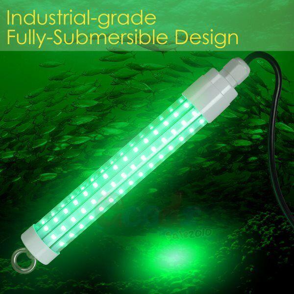 20000Lumens 12V 120 LED Green Underwater Fishing Light Lamp Fish Attract US