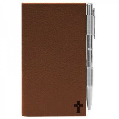 1621 Signature Series Faux Leather Flip Note Brown Cross Notepad Tan Faith