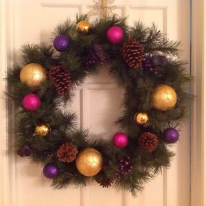 HUGE Extra Large Beautiful Modern Christmas Wreath