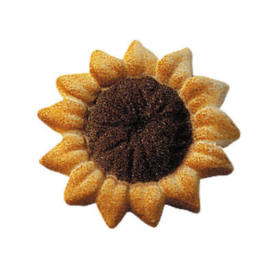 Sunflower Cupcake Toppers (Edible Sugar Sunflower Cupcake and Cake Toppers - 12 Count -)