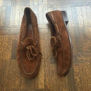 Polo Ralph Lauren Brown Suede Loafers Size 10