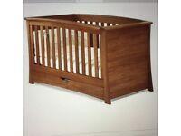 Solid Oak Mamas & Papas Ocean Nursery Furniture Set