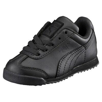 Puma Roma Basic 35426012 Black Infant Toddler Girls Boys Sho