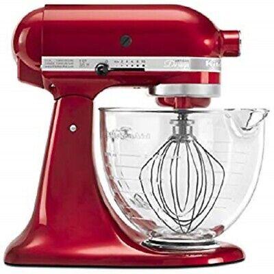 KitchenAid KSM155GBCA 5-Qt. Artisan Design Series w/Glass Bowl Candy Apple NEW