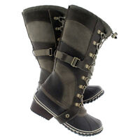 SOREL'S - CONQUEST CARLY  brown/black winter boots - SIZE 11
