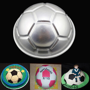 3D Mini Soccer Ball Half Football Cake Pan Tin Tray Birthday Bakeware Mould DIY