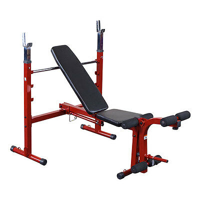 Best Fitness Adjustable Folding Weight Bench - BFOB10 with Leg Curl /