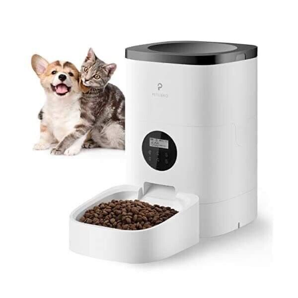 PETLIBRO Automatic Cat Feeder, 4L Auto Pet Dry Food Dispenser with Desiccant 1-4
