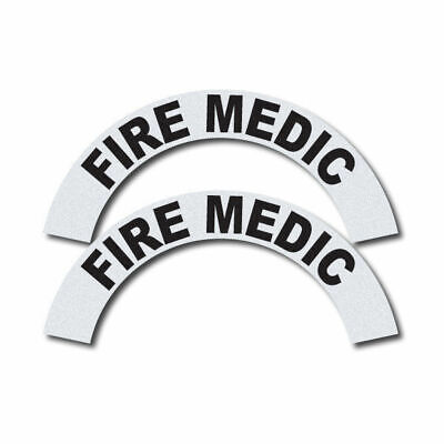 3m Reflective Firerescueems Helmet Crescents Decal Set - Fire Medic