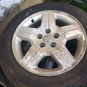 """2009 caliber 17"""" rims and tires for sale!!!"""