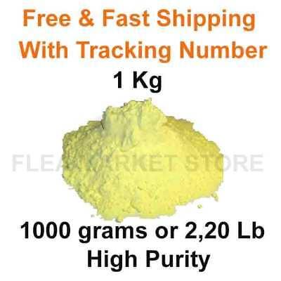 Flowers Of Sulphur Powder 1 Kg Sulfur 1000 Grams 220lb High Purity 99 Top