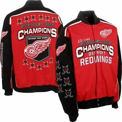 - Detroit Red Wings 11 Time Stanley Cup Champions Twill Jacket By G-III
