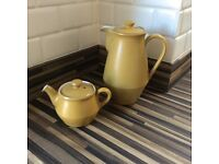Vintage Denby saffron yellow Ode coffee and tea pot immaculate