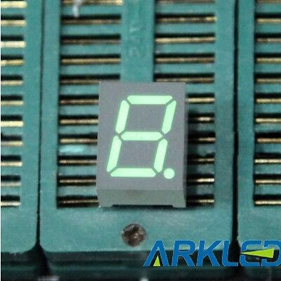 10pcs 0.39 Inch 1 Digit Led Display 7 Seg Segment Common Anode Green 0.39