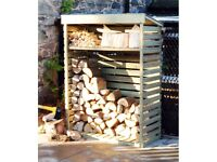 Large capacity wooden log and firewood store - New (FREE LOCAL DELIVERY)