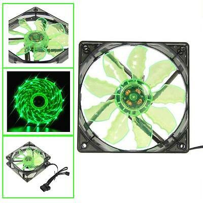 Colorful  Quad 4-LED Light Neon Clear 120mm PC Computer Case Cooling Fan Mod