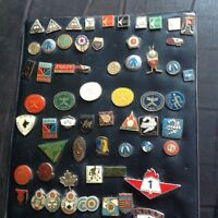 Lot of 63 Czechoslovakia and USSR hockey pins 1960s/70s
