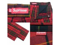 Supreme Royal Stewart Size: 36 work pants limited edition fw17