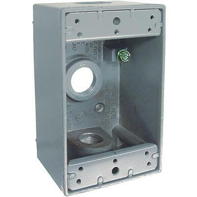 Gray Single-gang Weatherproof Outdoor Outlet Box