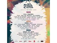 2 TICKETS MAD COOL FESTIVAL 3 DAY PASS