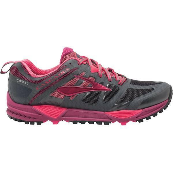 BROOKS Damen Laufschuhe / Trail Running Schuhe Cascadia 11 GTX grau/beere 120222