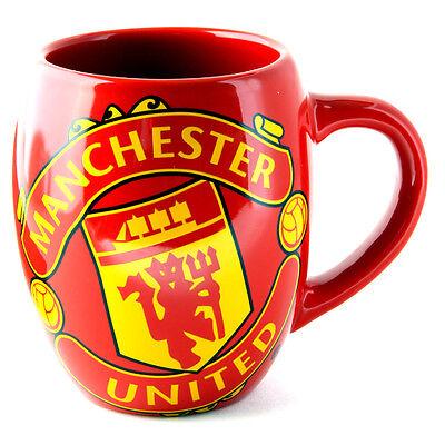 MANCHESTER UNITED FC TEA TUB MUG CERAMIC COFFEE CUP IN CLEAR GIFT BOX NEW XMAS United Fc Mug