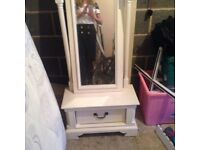Laura Ashley Bedroom mirror on box draw and stand