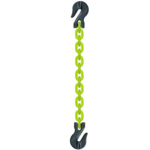 "3/8"" Grade 100 HI-VIZ Chain Sling Lifting SGG w/Clevis Grab Hooks - Made in USA"