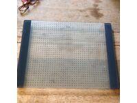 Glass chopping board by Blanco