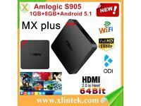 BRAND NEW T95N Mini MX+ S905 quad-core 1GB+ 8GB 2.4GWIFI KODI BOX Android BOX TV Box HDMI 4K*2K