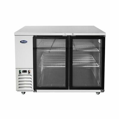 48 Glass Door Back Bar Cooler Refrigerator Cans Bottle Stainless In And Out