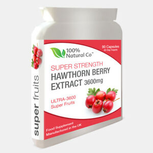 Hawthorn Berry Extract 90 Capsules -  50% Stronger - Highly Effective