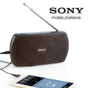 REFURB SONY AM/FM RADIO/SPEAKER SRF-18 89744069 BATTERY POWERED PORTABLE AUDIO RADIO/SPEAKER