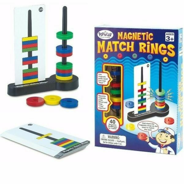 BNIB: Popular Playthings Magnetic Match Rings