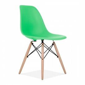 Green Eames Inspired chair