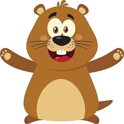 30 Custom Happy Little Groundhog Personalized Address Labels