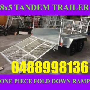 8x5 galvanised tandem box trailer with cage and ramp 70x50 chassis sa