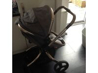 Mothercare Orb Pram and Pushchair in Grey Canvas
