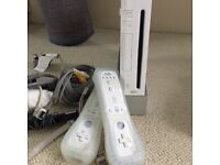 Nintendo Wii console and games package