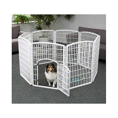 Dog Pen Exercise Kennel Play Portable Pet Containment Indoor Outdoor 8 Panel NEW