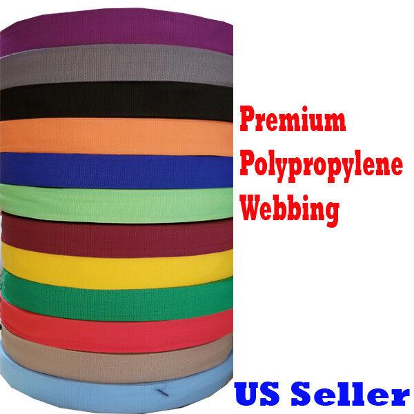 "1"" 2"" 1.5""  Inch Polypropylene Webbing Tan Orange Nylon Stra"