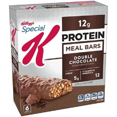 ( 2 ) Kellogg's Special K Protein Meal Bar, Double Chocolate,12g Protein,6 (Special K Double Chocolate Protein Meal Bar)