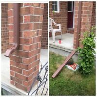 Gutter repair and maintenance services available.