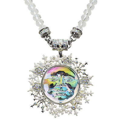 Kirks Folly Seaview Ice Moon Snowflake Magnetic Enhancer & Beaded Necklace ST ()