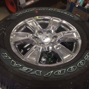 """18"""" 2016 F-150 rims and tires. NEW  Chrome"""