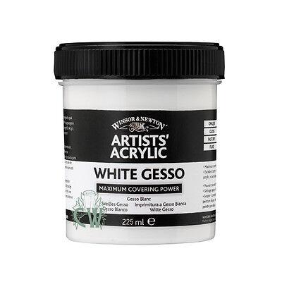 Winsor & Newton Artist Acrylic Gesso 225ml. Artists Painting Gesso.