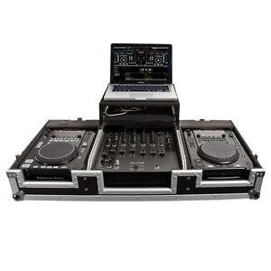 Custodia-per-2x-Raggio-3000-Mixer-14-034-con-vassoio-Laptop-Americana-Dj-NUOVO