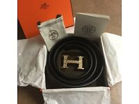 Hermes belt gold