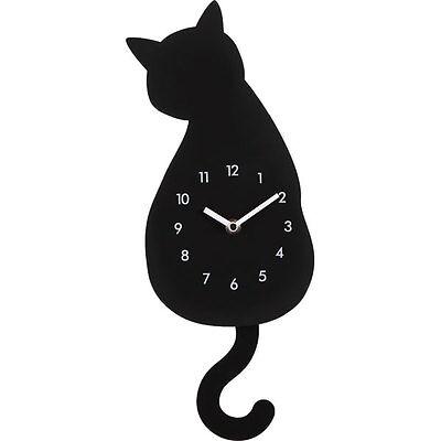 "From Japan Nitori Pendulum clock (black cat) ""Code: 8172522"" / Tracking SAL"