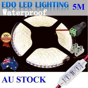 Waterproof-5M-3528-600-Natural-White-DC-12V-SMD-LED-Led-Strip-Lights-dimmer